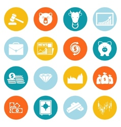 Finance exchange round icons vector image