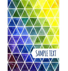 Triangular pattern vector