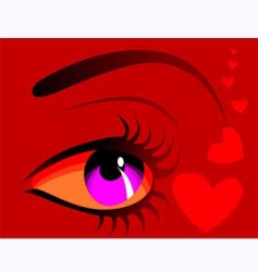 Eye and heart vector