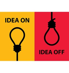 Idea on and off vector