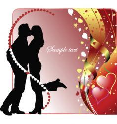kiss vector image