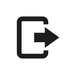 The exit bag icon logout and output outlet out vector