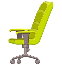 Office chair in green color vector