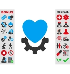 Mechanical heart icon vector