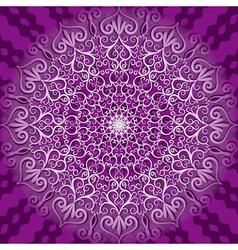 decorative violet pattern vector image
