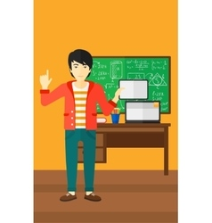 Man holding tablet computer vector