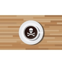 Poison poisonous coffee with skull vector