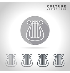Culture outline icon vector