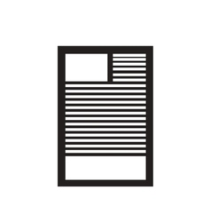 Flat icon in black and white document vector