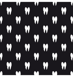 Black and white teeth seamless pattern vector