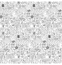 Adult Party Doodle Seamless Pattern vector image