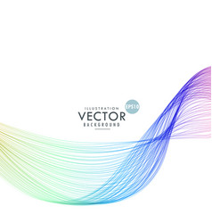 Abstract blue lines wave background vector