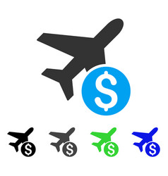 airplane price flat icon vector image