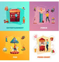 amusement park 2x2 design concept vector image vector image