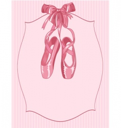 ballet slippers on stripe background vector image