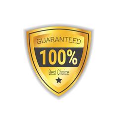 Best choice sticker golden shield guaranteed seal vector