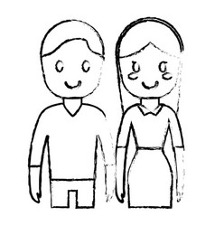 Cartoon couple icon vector