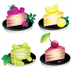 Cheese cake vector