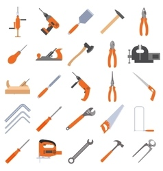 Collection of tools vector image vector image