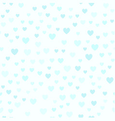 Cyan heart pattern seamless vector