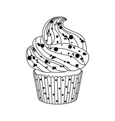 Delicious cake on white background vector