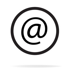 Email icon on white background email sign vector