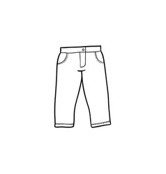 flat denim jeans warm pullover vector image