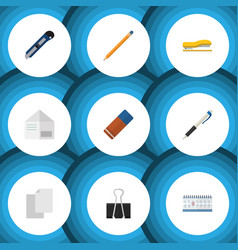 Flat icon equipment set of knife date block vector
