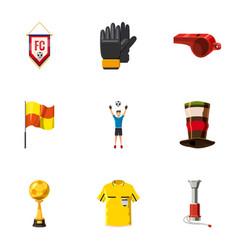 Football tournament icons set cartoon style vector
