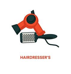 Hairdresser equipment beauty salon hair vector
