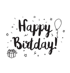 Happy birthday Greeting card with modern vector image vector image