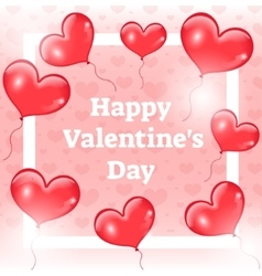 Happy Valentine s day card template invitation vector image