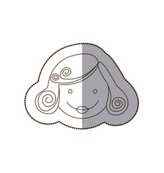 happy woman people icon vector image