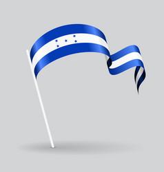 Honduras wavy flag vector image