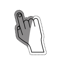 Human finger touching something vector
