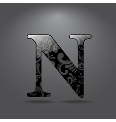 Letter N vector image vector image