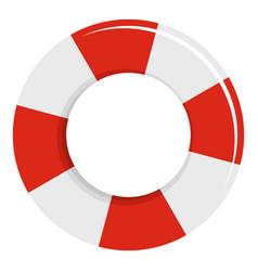 lifebuoy icon flat style vector image