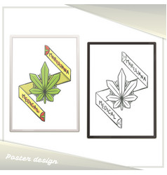 medical marijuana poster one vector image