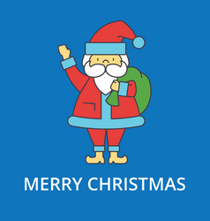 merry christmas santa claus th vector image