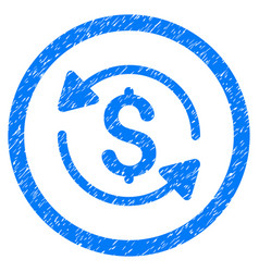 money turnover rounded grainy icon vector image vector image