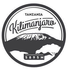 Mount kilimanjaro in africa tanzania outdoor vector