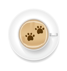Realistic coffee foam vector