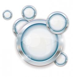 silver circle frames vector image vector image