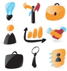 Smooth business icons vector image vector image