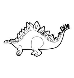 stegosaurus icon outline vector image vector image