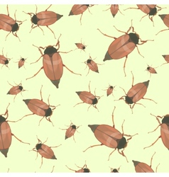 Summer seamless pattern with cockchafers vector image vector image