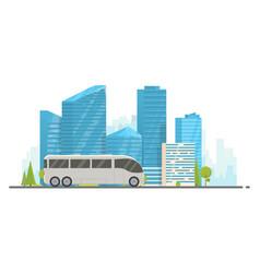 Touristic white bus vector