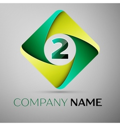 Two number colorful logo in the rhombus template vector