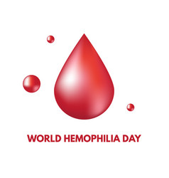 World hemophilia day vector