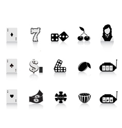 Black gambling icon vector
